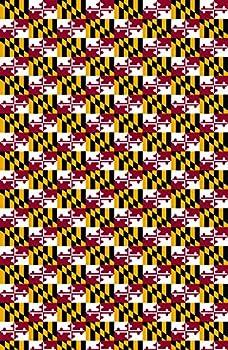 Maryland s Flag Pattern Heat Transfer Vinyl Sheet for Silhouette 12  x 18  HTV for Clothing - Free Bonus Transfer Mask Included Premium Heat Transfer Vinyl