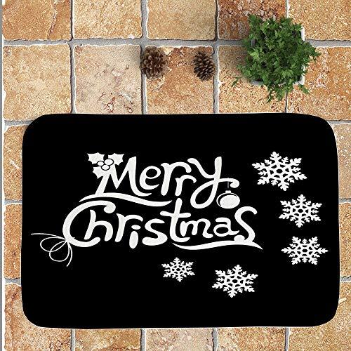 OHQ Felpudos Feliz Navidad Bienvenido Felpudos Interior Casa Pegatina De La Pared Etiqueta DecoracióN HogareñA...