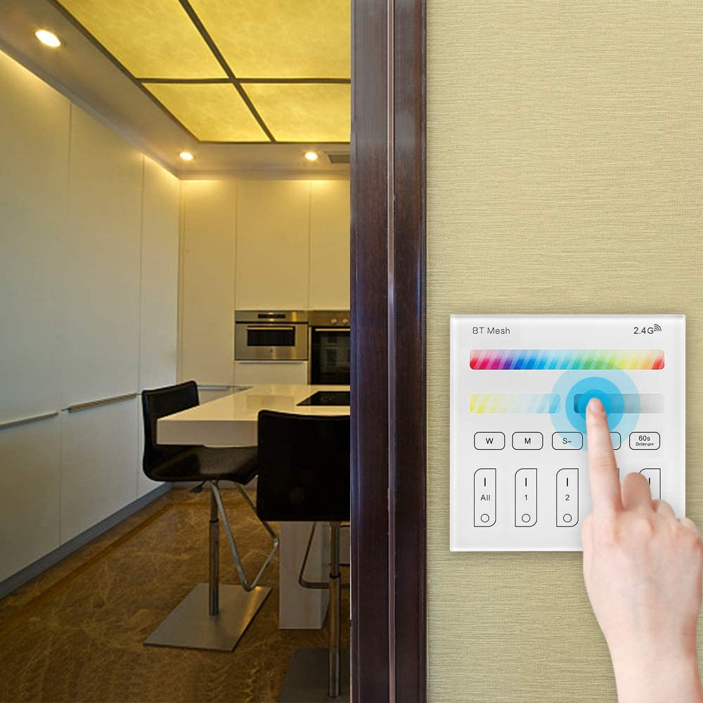 Smart Panel Controller Popular brand in the world Bluetooth Mesh Switch 2. Dimmer Animer and price revision Wireless