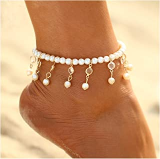 Simsly Anklets Bracelet Beaded Beach Foot Jewelry Ankle Chain for Women and Girls JL-0111 1PC