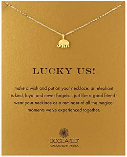 Yuanhua Women Necklaces Sterling Silver Elephant Pendant Gold Plated Necklace Jewellery for Ladies Girls