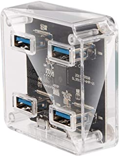 4-Port USB 3.0 HUB Square 5Gbps Multi Port Expander With USB Cable For Charging