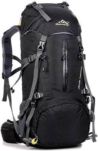 Y&XF Sac à Dos de randonnée léger 50L Sac à Dos de Voyage imperméable avec Housse de Pluie pour l'alpinisme en Plein air Camping Alpinisme,B