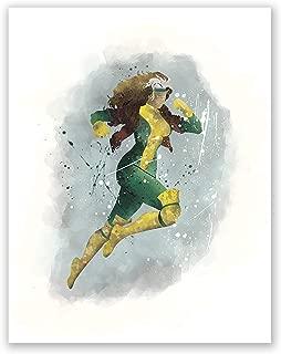 PGbureau Rogue Poster - Rogue Xmen Poster - Movie Print - Superhero Watercolor Illustration - Home Design for Nursery (8x10)