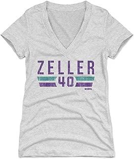 500 LEVEL Cody Zeller Women's Shirt - Charlotte Basketball Shirt for Women - Cody Zeller Charlotte Font