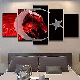 Kunstdruck Pixxprint Turkey Flag T/ürkei Flagge als XXL Leinwandbild in /Übergr/ö/ße 180x80cm Gesamtma/ß 3 teilig Wandbild