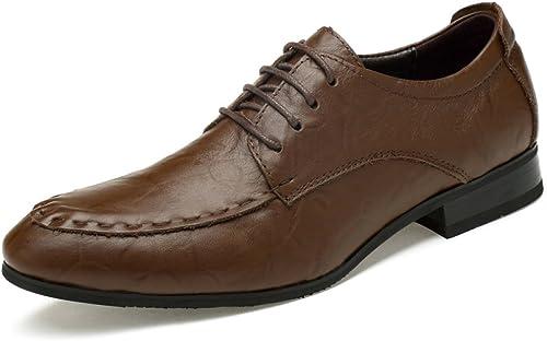 Hommes Formelles Chaussures en Cuir Smart Robe Mariage Noir Bureau Bureau Travail d'affaires Soirée Parti Décontracté Lace Up Mocassins Conduite Chaussures  vente