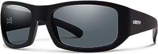 Smith Bauhaus 20193000354M9 Mens Black Frame Gray Green ChromaPop Wrap Sunglasses