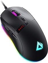 AUKEY Knight Ratón Gaming, Ratón Gaming con Cable, 10000 dpi, RGB Personalizable, 8 Botones Programables, Macros, Botón de...