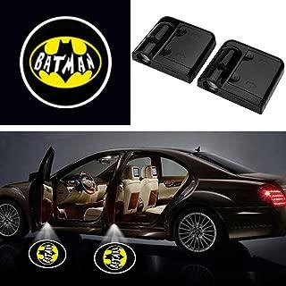 3D Ghost Shadow Emblems Wireless Batman Car Door Logo Shadow Ghost Lights (2pcs) fit Ford Focus 2 Fiesta F150 Mondeo Transit Mustang etc (Black Yellow Batman)