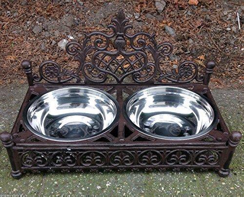 Hundenapf Napf Fressnapf Futternapf Futterbar Hund Katze Gusseisen Antik Stil