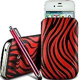 N4U Online® - Nokia Asha 210 Protective PU Leather Zebra