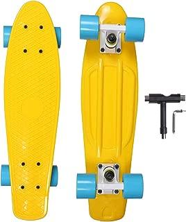 OOTOO ミニクルーザー T型レンチ付き スケートボード コンプリート スケボー初心者に ペニータイプ 22インチ オリジナルABEC7ベアリング