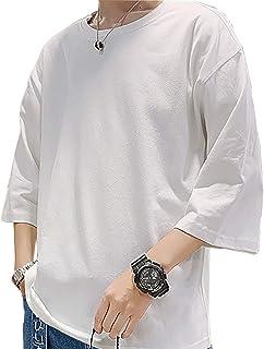 [スポシー] Tシャツ 半袖 カットソー ビッグシルエット ビッグT ゆったり ゆるTシャツ 無地 オーバーサイズ ストリート M ~ XL メンズ