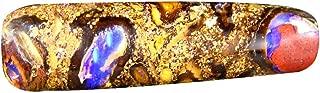 8.49 ct Fancy Cabochon Shape (27 x 7 mm) Play of Colors Australian Koroit Boulder Opal Natural Loose Gemstone