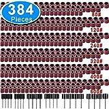 SIQUK 384 Piezas Tambores de Lijado incluso 360 Piezas Bandas de Lija y 24 Piezas Mandrile...