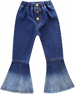 patchwork bell bottom jeans