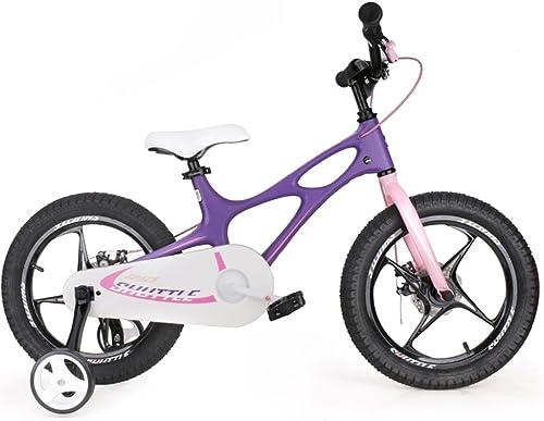 toma Bicicletas Bicicleta de aleación de magnesio para Niños. Niños. Niños. Bicicleta de 14 Pulgadas y 16 Pulgadas. Carrito de bebé para Hombre y mujer de 3 a 6 años. (Color  púrpura, Tamaño  16 Pulgadas).  alta calidad