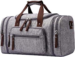 66de4f1ab7 Groust Unisexe Toile Holdall Portable Voyage Duffel Bag Weekender Sacs  Pliable Sports De Plein Air Bagages
