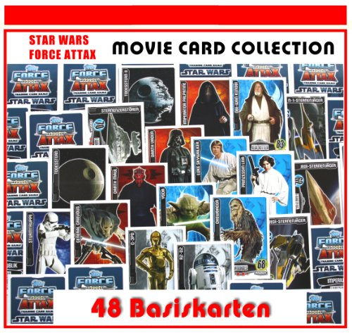 Star Wars Force Attax Serie – Movie Card Collection – 48 Base Tarjetas – Tarjetas de base