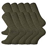 TippTexx24 10 Paar Sport-Army-Jäger-Socken, schöne, sehr robuste & schwere Qualität (43/46)