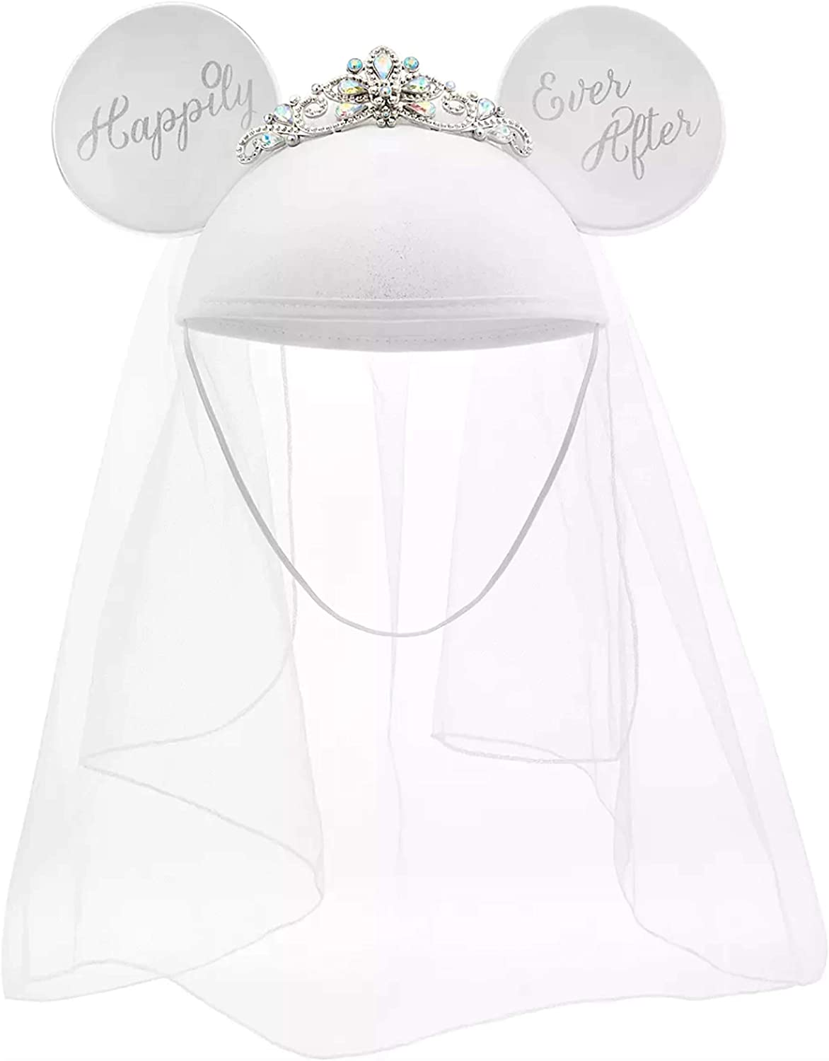 Disney Parks Mickey Minnie Bride Super beauty product restock quality top Ears Af Happily Veil Hat Superlatite Ever -