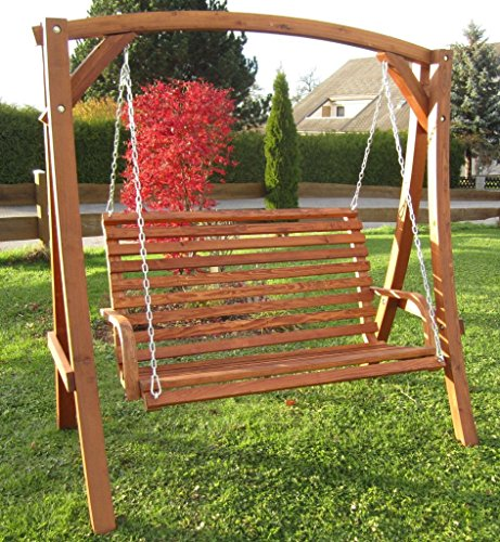 ASS Design Hollywoodschaukel Gartenschaukel Schaukel Holzschaukel Hollywood Swing aus Holz Lärche Modell KUREDO103OD - 3