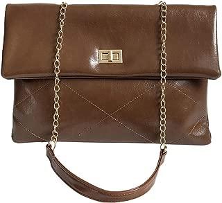 Monique Women Solid Color Flap Clutch Envelope Handbag Chain Strap Cross-body Bag Shoulder Bag