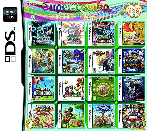 208 in 1 Large-scale Game - Compilations Video Game DS Cartridge Card - Compatible Model Nintendo Dual Screen,For DS NDS NDSL NDSi 3DS 2DS XL