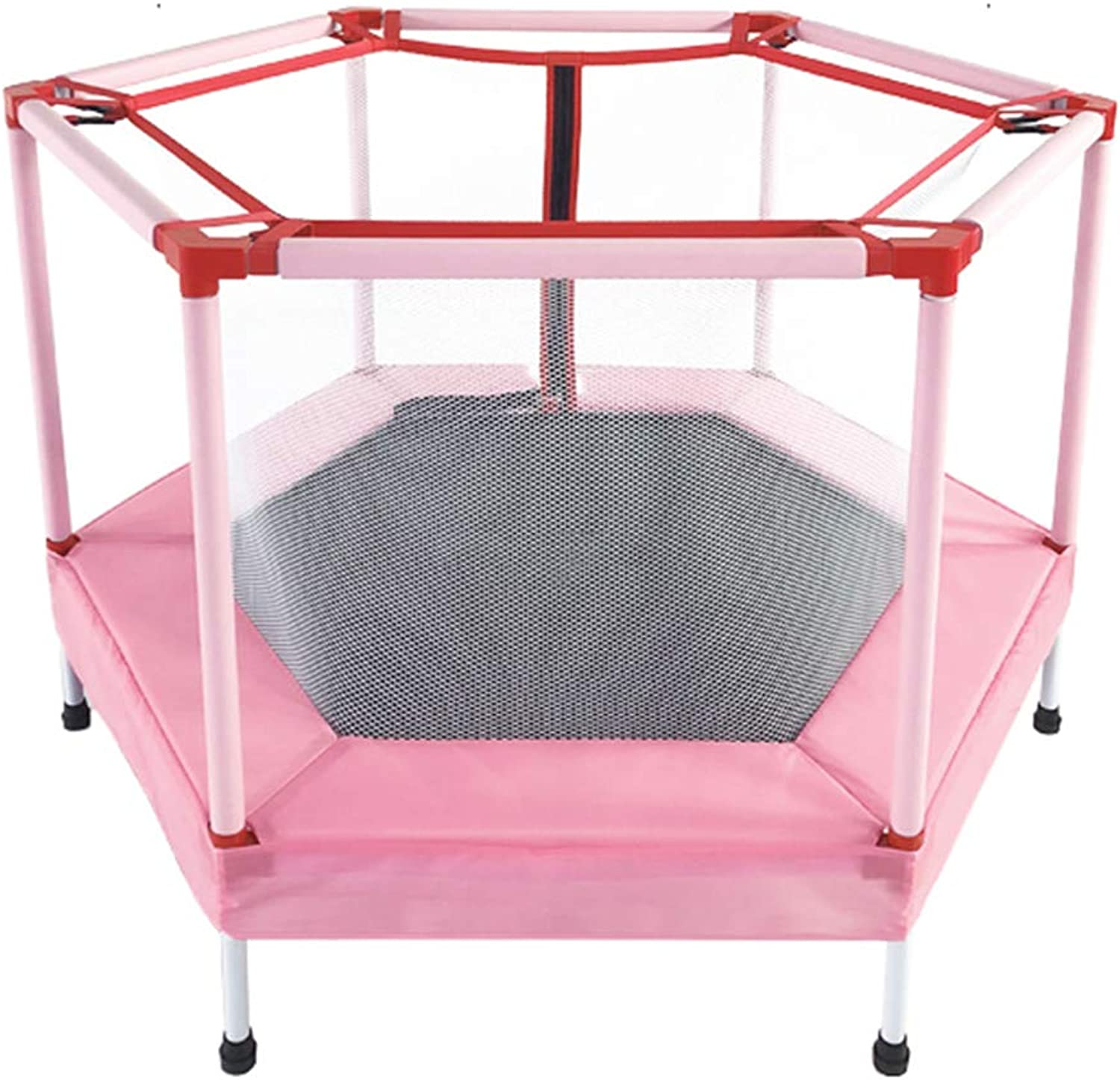 Trampoline Jumping Sheet Bouncing Bed with Predective Net Home Kids Sports Toys Body Sculpture Aerobic Bouncer Elasticity Slimming Gym Fitness Equipment