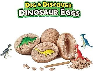 NeatoTek Dinosaur Egg Dig Kit - Break Open Ultimate 12 Dinosaur Eggs Science Kit and Discover 12 Cute Dinosaurs - Easter Archaeology Science STEM Gift