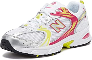 New Balance 530 Womens White/Pink/Yellow Trainers