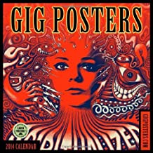 Gig Posters: Rock Art for the 21st Century 2014 Wall Calendar by Amber Lotus Publishing (2013-07-15)