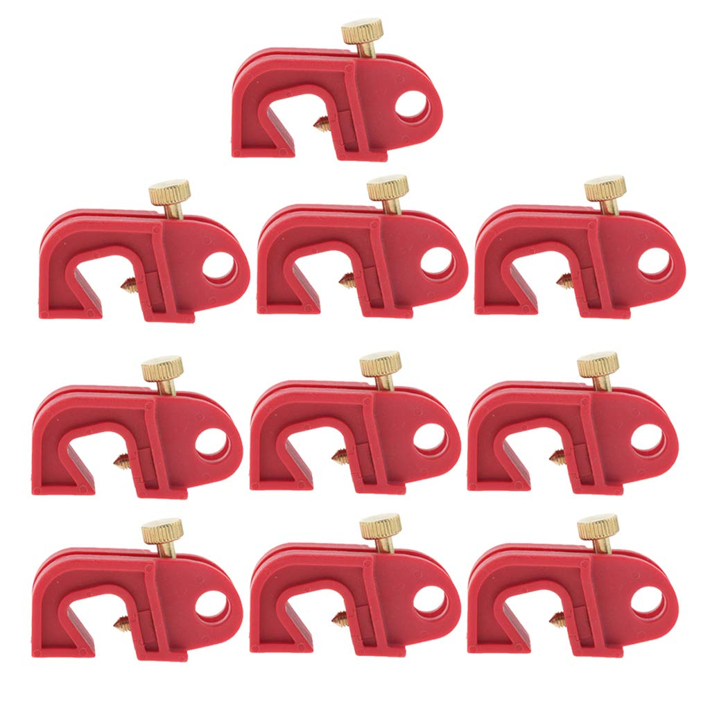 Baosity 10PCS Universal Circuit Breaker High order Twisted with Lockout Red Minneapolis Mall