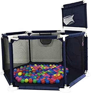 Gaorui Kids Baby Ball Pit Playpen - Portable Toddlers Indoor Outdoor Baby Play House Children Safety Play Yard Fun Activities Popular Toys (Not Includes Balls) (Blue)