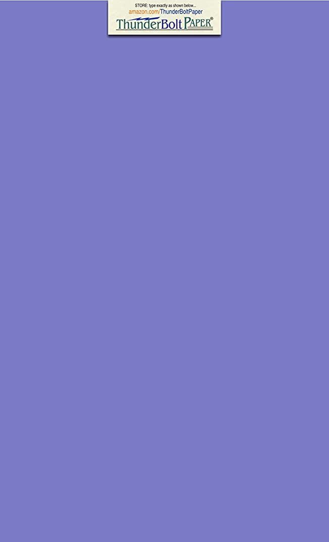 25 Bright Blue Violet 65lb Cover|Card Paper - 8.5 X 14 Inches Legal & Menu Size - 65 lb/Pound Light Weight Cardstock - Quality Printable Smooth Surface for Bright Colorful Results