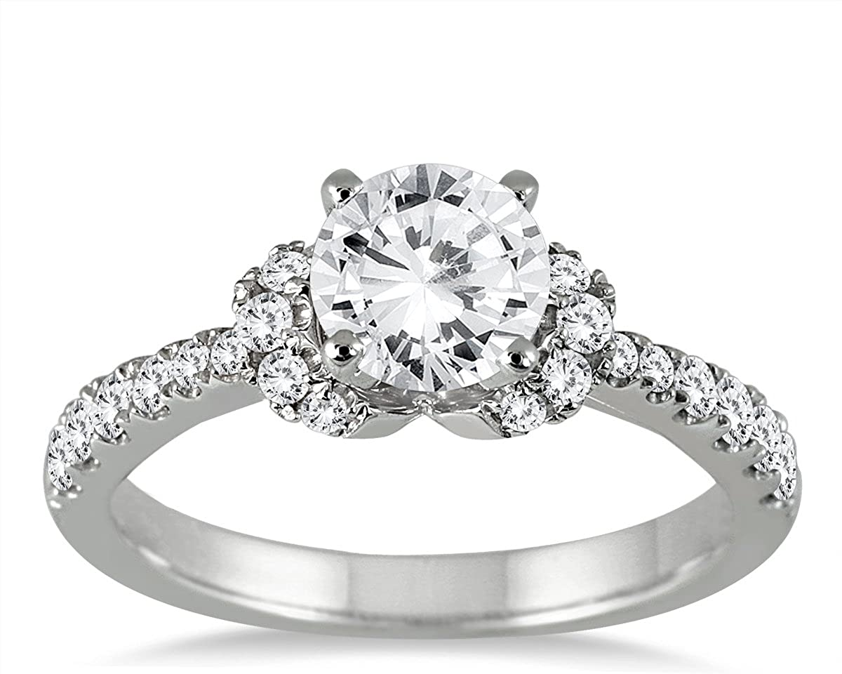 Clearance SALE Limited time 1 Carat TW Diamond Be super welcome Engagement in White Ring Gold 14K