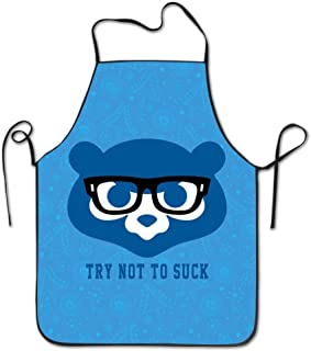 Try Not To Suck Cubs Maddon Baseball Adjustable Kitchen Apron For Cooking Baking Barbecue
