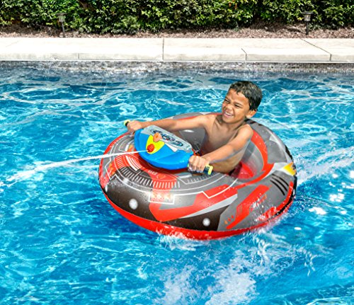 Banzai 34179 Aqua Blast Motorized Bumper Boat Kids Inflatable Swimming...