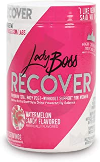 Premium BCAA Post Workout Muscle Recovery Endurance Drink - LadyBoss Recover - Post Workout Amino Energy Powder for Women Powered by Science - Reduce Muscle Soreness After Exercise - 30 Servings