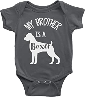 My Brother Is A Boxer Baby Bodysuit - Multiple Colors To Choose From