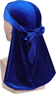 Luxury Velvet Wave Durag - Soft Durag Headwraps with Extra Long Tail and Wide Straps for 360 Waves