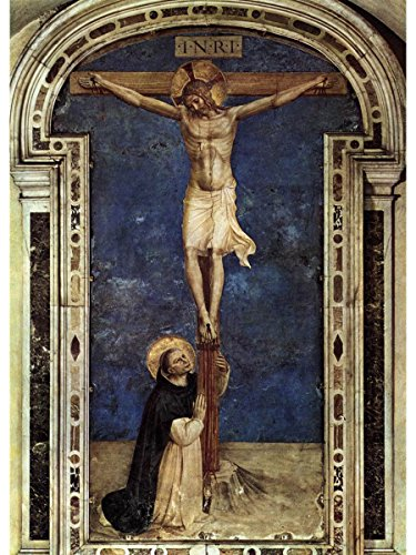 Saint Dominic Adoring The Crucifixion by Fra Angelico