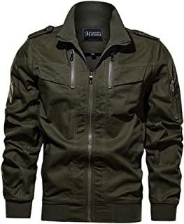 Xiang Ru Casual Coat Cargo Jackets Classic Outerwear for Men