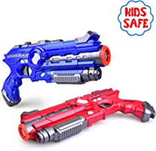 Infrared Laser Tag – AINEK Laser Guns for Kids & Adults with 4 Gun Setting, Pistol, Shotgun, Rocket & Machine Gun, Outdoor & Indoor Laser Tag Guns Safe & Durable, Infrared 0.9Mw, 2 Pack