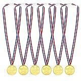 Pllieay 48 Pièces Médailles Enfants Médailles Or en Plastique pour Compétition, Thème Sport Day, Récompenses
