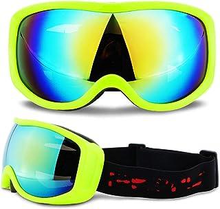 WYJW Al Aire Libre Adultos Snowboard Gafas de esquí Anti-vaho UV400 esquí Nieve Motocicleta Gafas de Sol galvanoplastia Cross-Country Motocicleta Gafas Casco mascarilla Hombres y Mujere