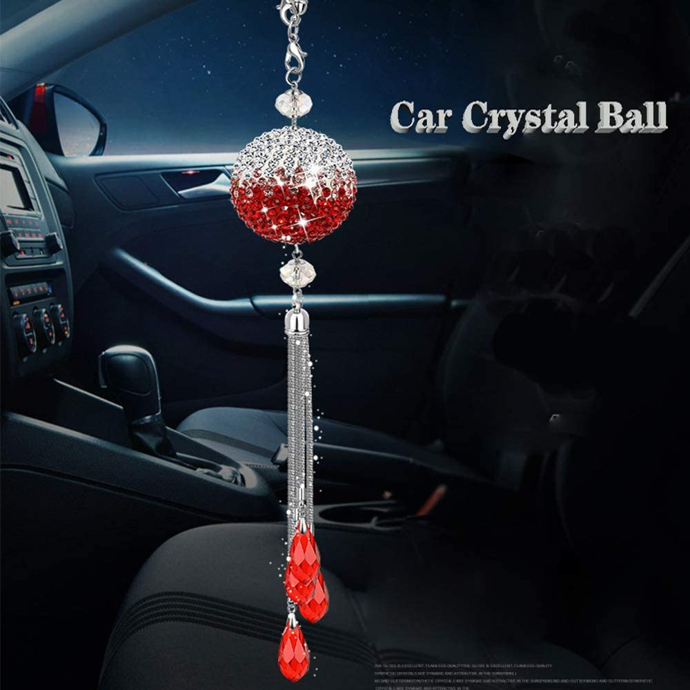 Quality inspection YSY Bling Car Ornament Clear Surprise price Crystals Crystal Hanging Prism Ball