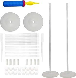 LANGXUN 2 Sets 50-inch High DIY Balloon Column Stand Kits for Birthday Decorations, Wedding Decorations, Party Decorations, Christmas Balloon Decorations (Column Stand)