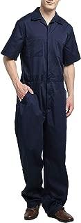 Men's Light Weight Short-Sleeve Work Coverall with Elastic Waist